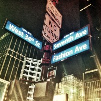 Fashion Ave in New York