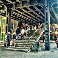 High Line stairs up