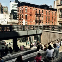 Traffic watching at High Line