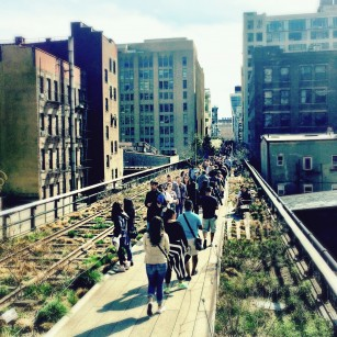 People walking on High Line