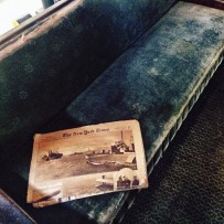 Newspaper inside the Parlor Car from 1901