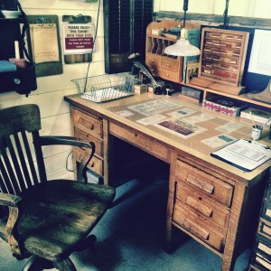 Desk at the Maine Narrow Gauge Railroad Museum