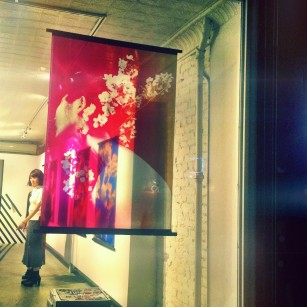 Sayaka Maruyama cloth print in the window