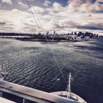Approaching Boston on Carnival Splendor cruise ship