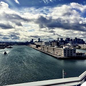 Docking at Boston Black Falcon Cruise Terminal