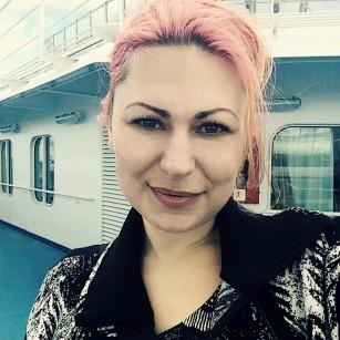 Raven Mai near Boston on the Carnival Splendor cruise ship