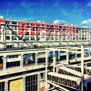 The sign of Boston Black Falcon Cruise Terminal