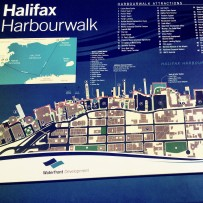 Map of the Halifax Harbourfront walt