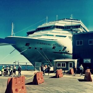 Carnival Splendor docked in Portland, Maine