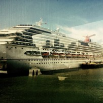 Carnival Splendor docked at the Cruise Terminal in NY