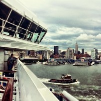 Leaving New York on Carnival Splendor ship