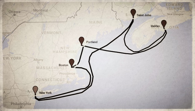 Map of Carnival Splendor cruise route