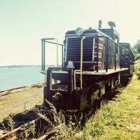 The locomotive of Polar Express train