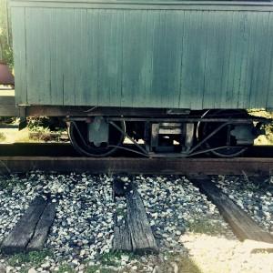Car on the narrow gauge rail