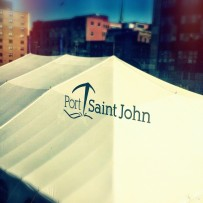 Arriving at Saint John, New Brunswick