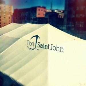 Arriving at Saint John, New Brunswick