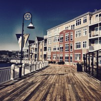 Buildings on the docks in Saint John, New Brunswick