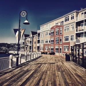 Buildings on the docks in Saint John, New Brunswick