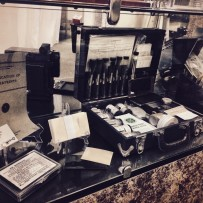 Finger printing kit in displayed at the Saint John Police Museum