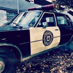 Gotham City Police Department car on the street