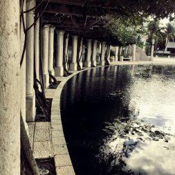 The pond Holocaust Memorial Miami Beach