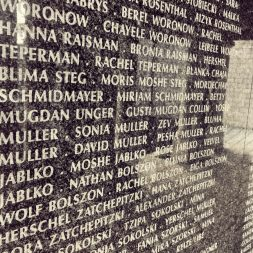 The names of people perished in the Holocaust 3