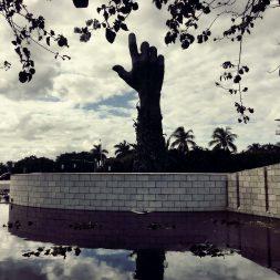 The hand Holocaust Memorial